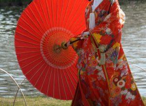 婚礼のときの和装の正装は打掛と文金高島田