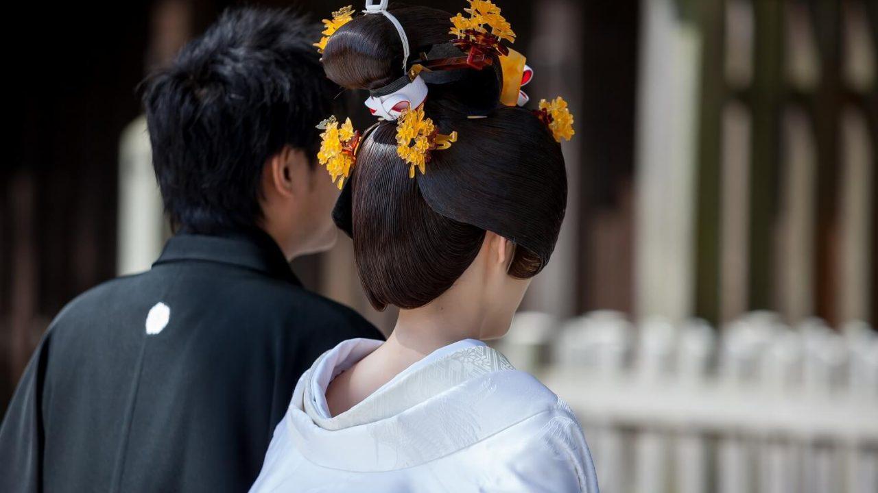 和装で結婚式・白無垢の髪型は?