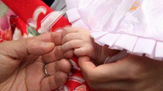 赤ちゃんがお宮参りに着用する祝い着
